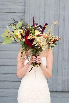 fall wedding bouquet from Three Leaf Floral K Robinson Photography