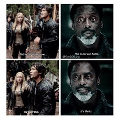 The 100 - Clarke, Bellamy and Chancellor Thelonious Jaha