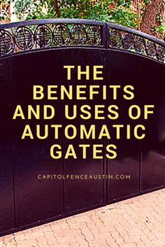 The Benefits And Uses Of Automatic #Gates - One use for automatic gates is to control what vehicles are allowed in an area that has been secured. See the 4 types of automatic driveway gates in #Austin
