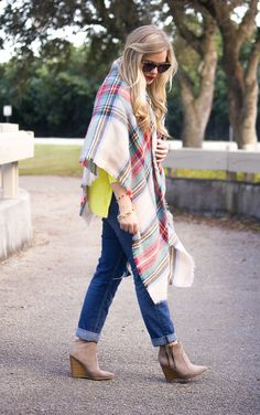 Neon + Blanket Scarf