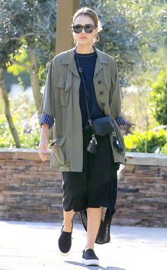 Jessica Alba from The Big Picture: Today's Hot Pics  The stylish actress is seen hanging out at the park with her family in Los Angeles.