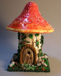 Cute fairy mushroom house