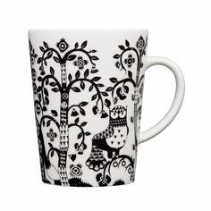 iittala Taika White / Black Mug - iittala Taika Mugs
