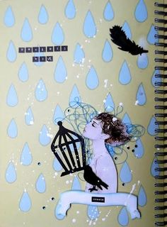 "November challenge ""Dancing in the rain"" - Blue Nika"