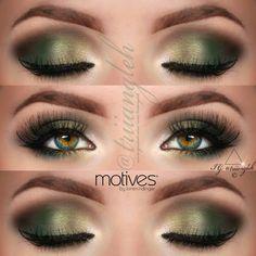 DIY Green Smokey Eye Make-Up