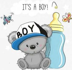 Baby Clip Art, Baby Art, Tatty Teddy, Baby Shower Parties, Baby Boy Shower, Scrapbook Bebe, Moldes Para Baby Shower, Congratulations Baby, Baby Painting