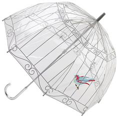 cool birdcage umbrella!