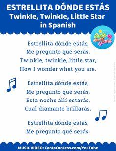 Estrellita Dónde Estás (Twinkle, Twinkle, Little Star in Spanish)