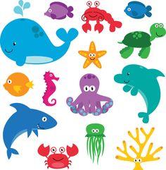 Een vrolijk stickervel met allemaal zeedieren erop. Zo vrolijk je de kinderkamer snel op.