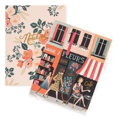 Parisian Set of Two with Gold Accents, unruled -Rifle Paper Co. - so cute!