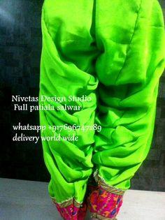 Punjabi patiala salwar, get the salwar customized in your desired, we are based in jalandhar punjab. providing world wide delivery. full pure punjabi patiala salwar visit us at https://www.facebook.com/punjabisboutique whatsapp +917696747289 #punjabisalwars #salwar @nivetas Design Studio