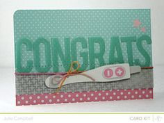 Pregnancy announcement card by Julie Campbell @Gail Mounier Calico