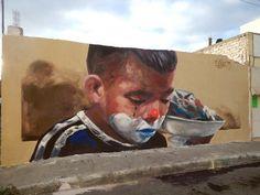 "Evoca1 - ""Escuincle"" - Queretaro - Mexico - 2015 http://www.widewalls.ch/artist/evoca-1/ #StreetArt #Mural"