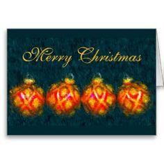 Impressionist Ornaments Greeting Card