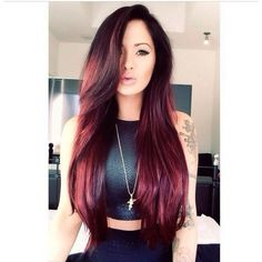 Maroon hair ociepl wizerunek! ❤ liked on Polyvore featuring beauty products, haircare, hair, hairstyles, beauty and cabelos
