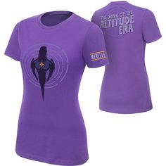"Neville ""Altitude Era"" Women's Authentic T-Shirt ❤ liked on Polyvore featuring tops, t-shirts, wwe, cotton t shirts, purple tee, purple t shirt, classic fit shirt and classic fit t shirt"