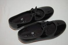 Girls Black Patent Dance Tap Shoes 12 ABT American Ballet Theatre Spotlights