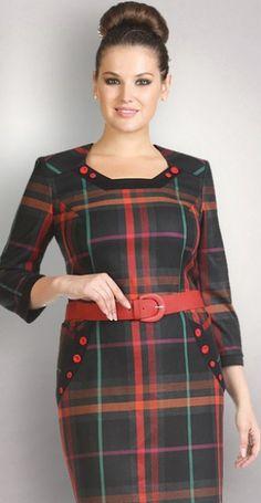Платье в клетку - заказать и купить с доставкой в интернет-магазине «L'MARKA»