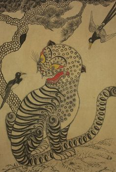 Five Moments To Remember From Korean Tiger Tattoo Designs Japanese Prints, Japanese Art, Japanese Tiger, Tiger Tattoo Design, Tattoo Designs, Korean Art, Asian Art, Tiger Painting, Painting Tips