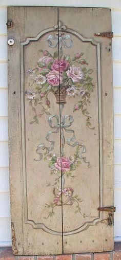 Handpainted Vintage Door