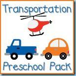 Transportation Preschool Fun