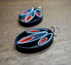 Modern Paper Earrings / Lightweight Earrings / by RogueTheoryPULP, $32.00