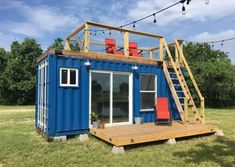 20 Rustic Retreat Shipping Container - Tiny House for Sale in Houston, Texas - Tiny House Listings Container Home Designs, Tiny Container House, Building A Container Home, Building A Tiny House, Container Buildings, Building A Shed, Cargo Container, Building Plans, Cheap Shipping Containers