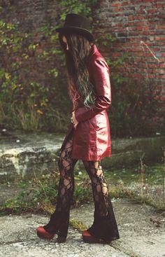 1970's Burgundy Rock N Roll Leather Jacket. Era 70s 60s. Vintage Rocker groovy gypsy hippie real leather jacket