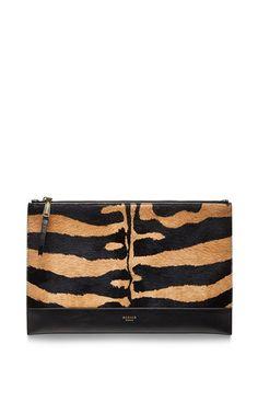 Medium beige zip pouch by ROCHAS Now Available on Moda Operandi
