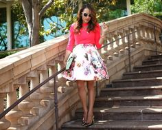 A Keene Sense of Style in a Ted Baker skirt, top and clutch