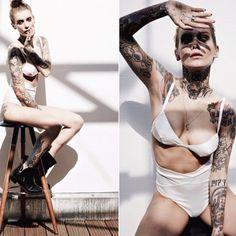 More Sexy Tattoo Girls at http://itsallink.tumblr.com