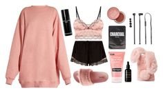 """Sleeping Beauty"" by mariposa-fashion-21 ❤ liked on Polyvore featuring Acne Studios, Eberjey, River Island, Qupid, Bobbi Brown Cosmetics, Lapcos, Neutrogena, Votary, Ashlyn'd and POP"