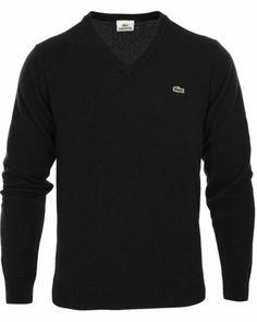 Lacoste Sweater - V-neck Navy Medium