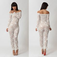 White Lace Jumpsuit <3