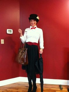 Mary Poppins costume - I saw a great photo of a similar costume on Pinterest and had to transform myself to Mary for Halloween.