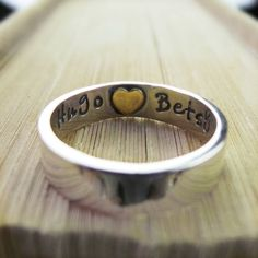 Heart Imprint Personalised Ring - http://www.notonthehighstreet.com/twistedtypist/product/heart-imprint-personalised-ring