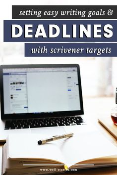 How can you hold yourself accountable with Scrivener? Learn to set goals and deadlines for your work using Project & Document Targets today! Easy Writing, Writing Goals, Writing Advice, Start Writing, Writing Resources, Writing Help, Creative Writing, Writing A Book, Writing Software