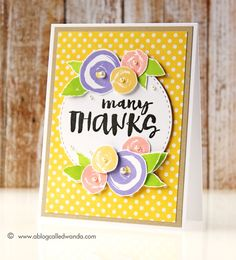 Created by Wanda Guess using brand New Simon Says Stamp from the Color of Fun Release.
