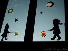 "ErnestKa: ""Laterne. Laterne,...""- DIY Fensterbild zum Sankt Martins- Fest"
