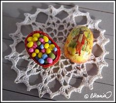 by Maria Malmström, vintage-style paper mache egg with candy inside!