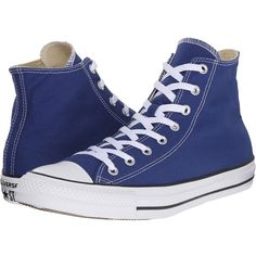 Converse Chuck Taylor All Star Seasonal Color Hi Men's Lace up casual... ($60) ❤ liked on Polyvore featuring men's fashion, men's shoes and men's sneakers