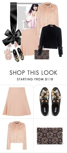 """""""Dune Elecktra Embellished Slip On Trainers, Black"""" by bodangela ❤ liked on Polyvore featuring Miu Miu, Dune, Givenchy, Oscar de la Renta and McQ by Alexander McQueen"""