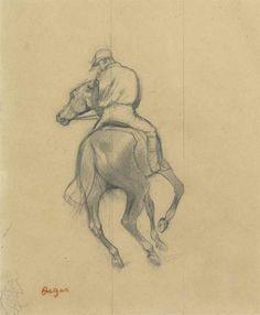 Edgar Degas (1834-1917) | Jockey | 19th Century, Drawings & Watercolors | Christie's
