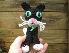 Crochet pattern amigurumi - black cat, Amigurumi pattern - pinned by pin4etsy.com
