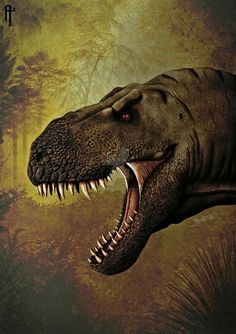 Tyrannosaurus rex. Art by Aram Papazyan
