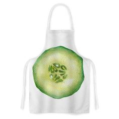 East Urban Home Cucumber by Theresa Giolzetti Green Artistic Apron