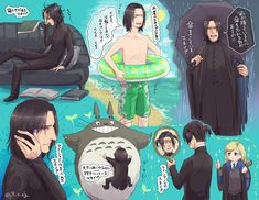 It's always funny when there is Luna in a picture with Snape Fanart Harry Potter, Harry Potter Severus Snape, Severus Rogue, Harry Potter Ships, Harry Potter Universal, Harry Potter Fandom, Harry Potter Hogwarts, Harry Potter Memes, Luna Lovegood