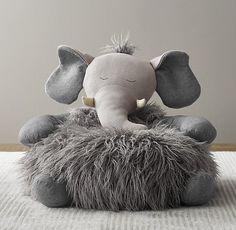 Wooly Plush Elephant Chair