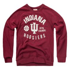 Gotta admit, I'm really diggin' our NEW Indiana '76 Champs Crewneck #Hoosiers