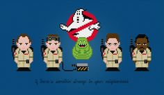 Ghostbusters Characters and Logo   Cross by pixelpowerdesign, $5.00